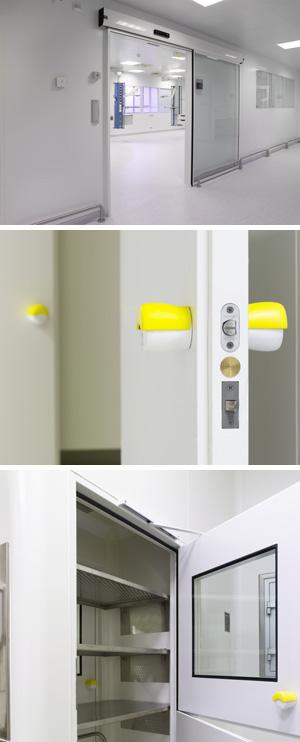 medical lab door